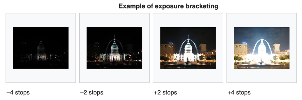 example for exposure bracketing