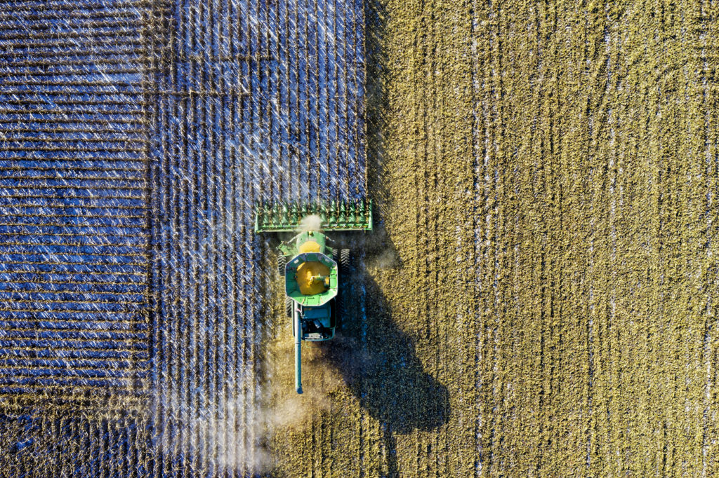 aerial photography farm harvest