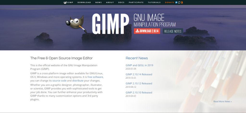 gimp homepage