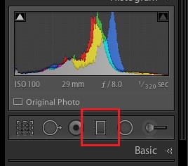 graduated filter tool