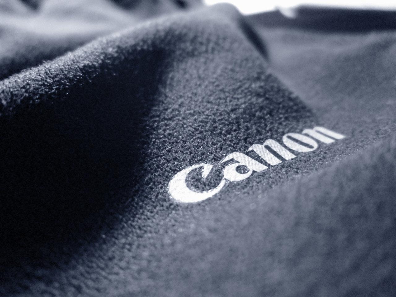 gray canon printed textile