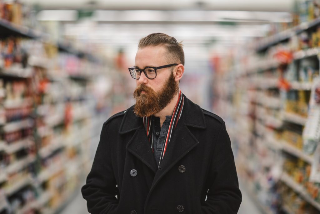 hipster in a store