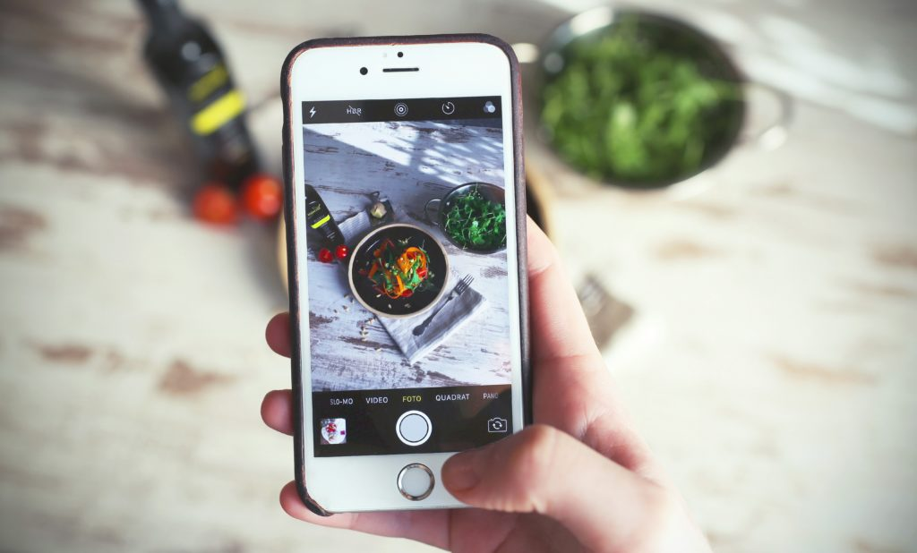 Camera phone food photography