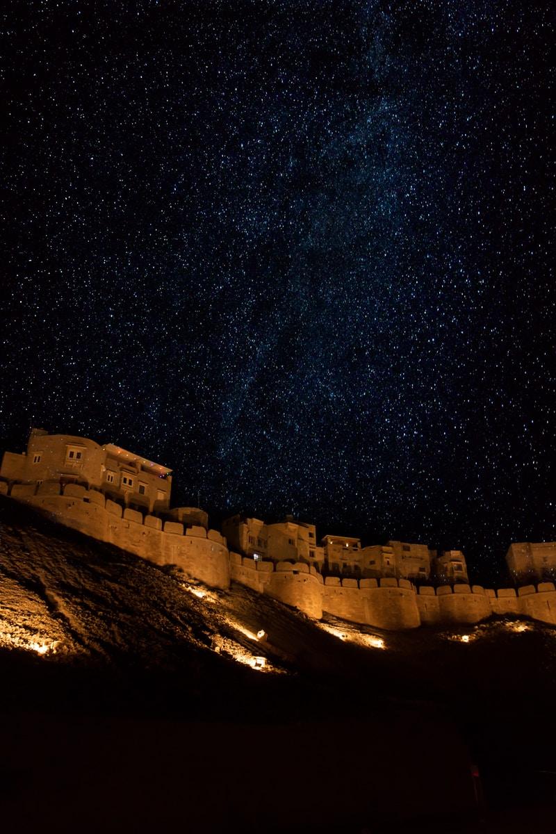 Jaisalmer fort under starry sky