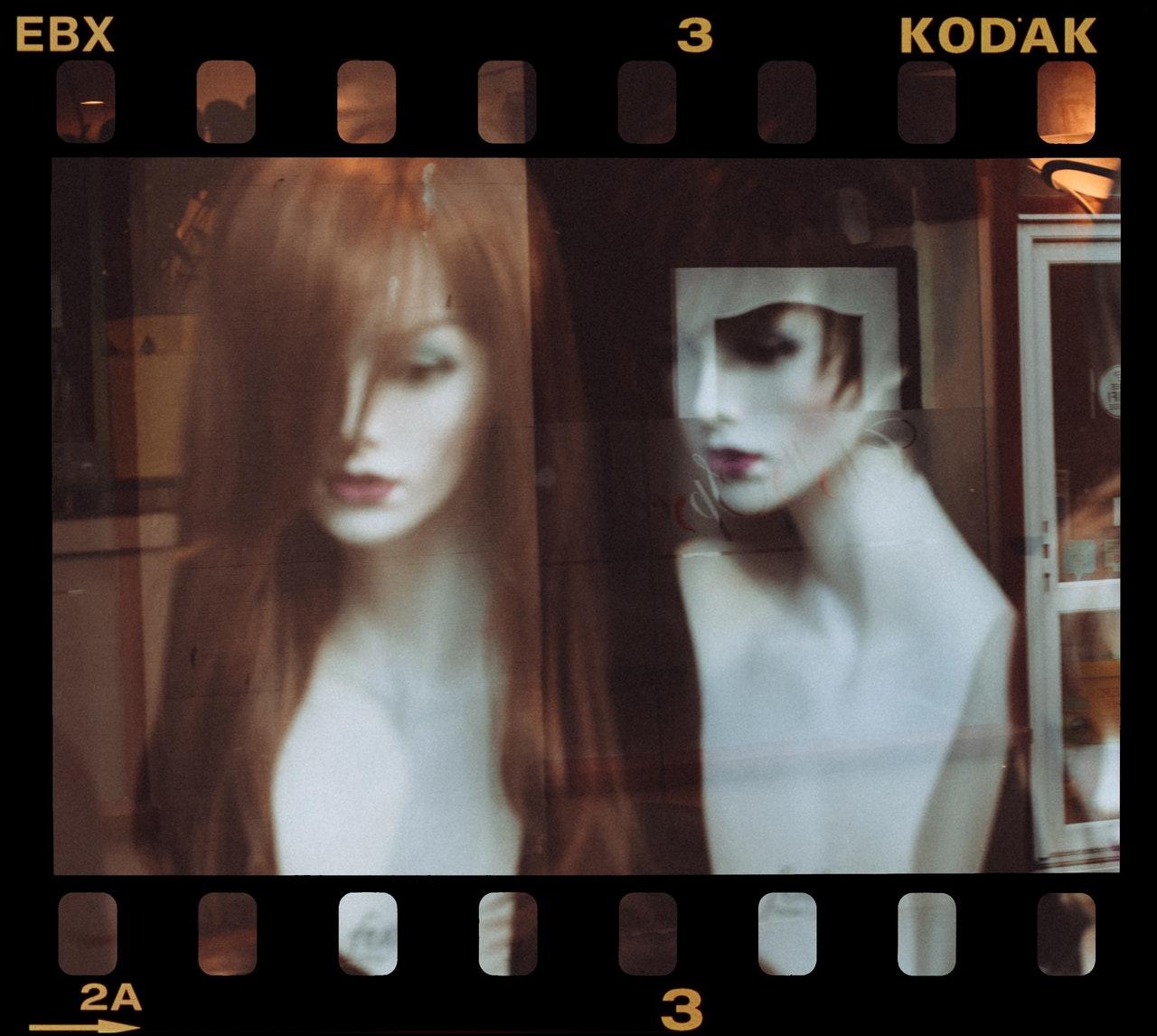 kodak film frame of mannequins