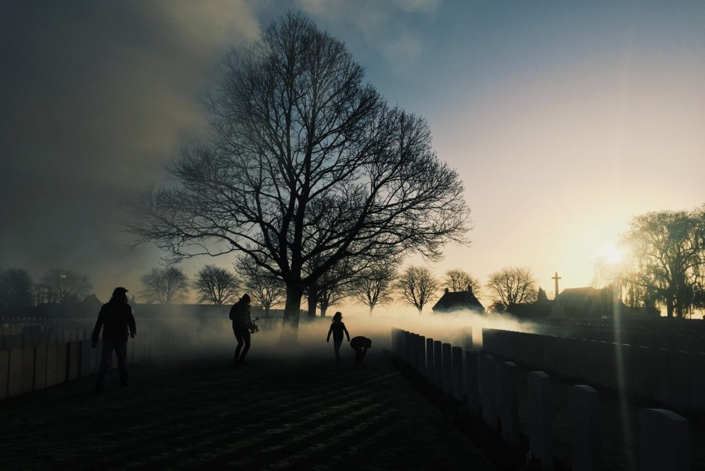 Silhouettes are something to explore when photographing foggy and misty scenes