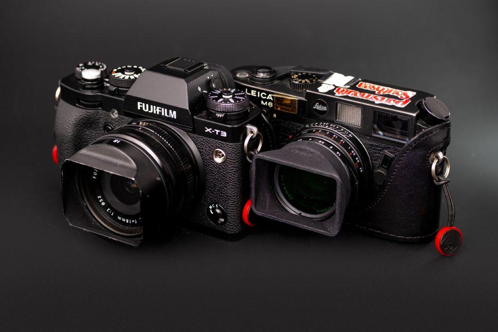 Modern Fuji digital cameras.