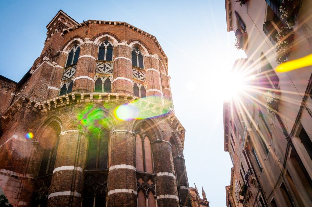 Image of church with bad lens flare