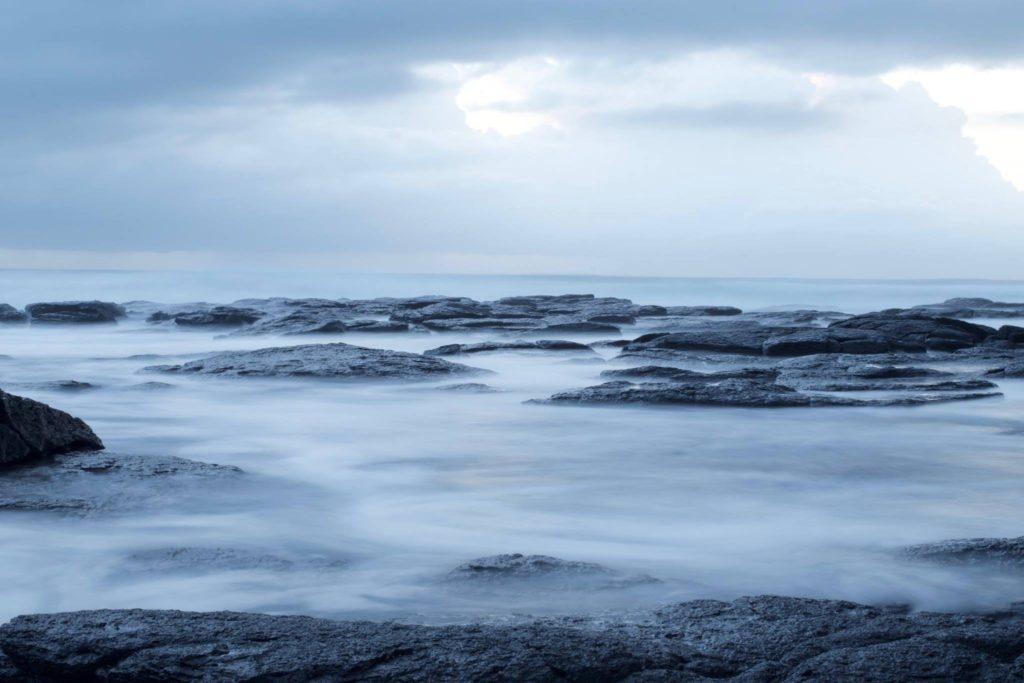 ethereal looking seascape