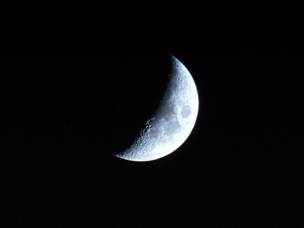 moon with crater
