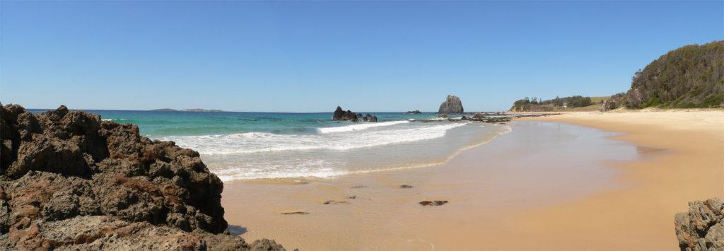 Narooma beach panorama