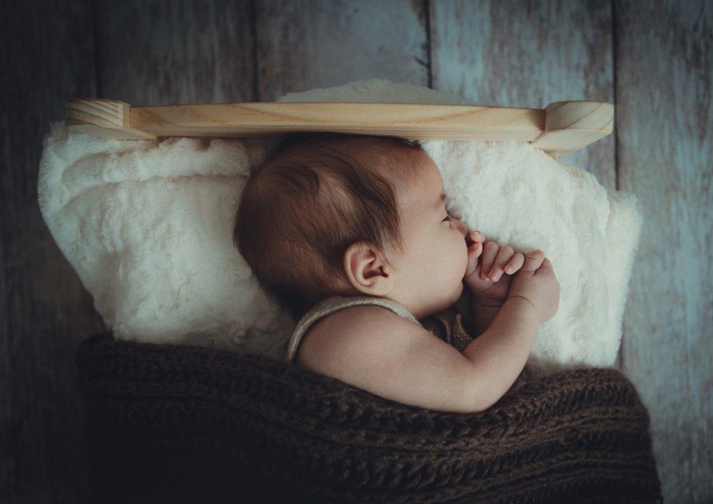 newborn sleeping photo