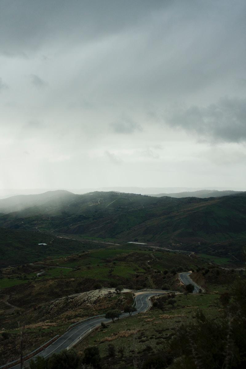 highway near misty mountain