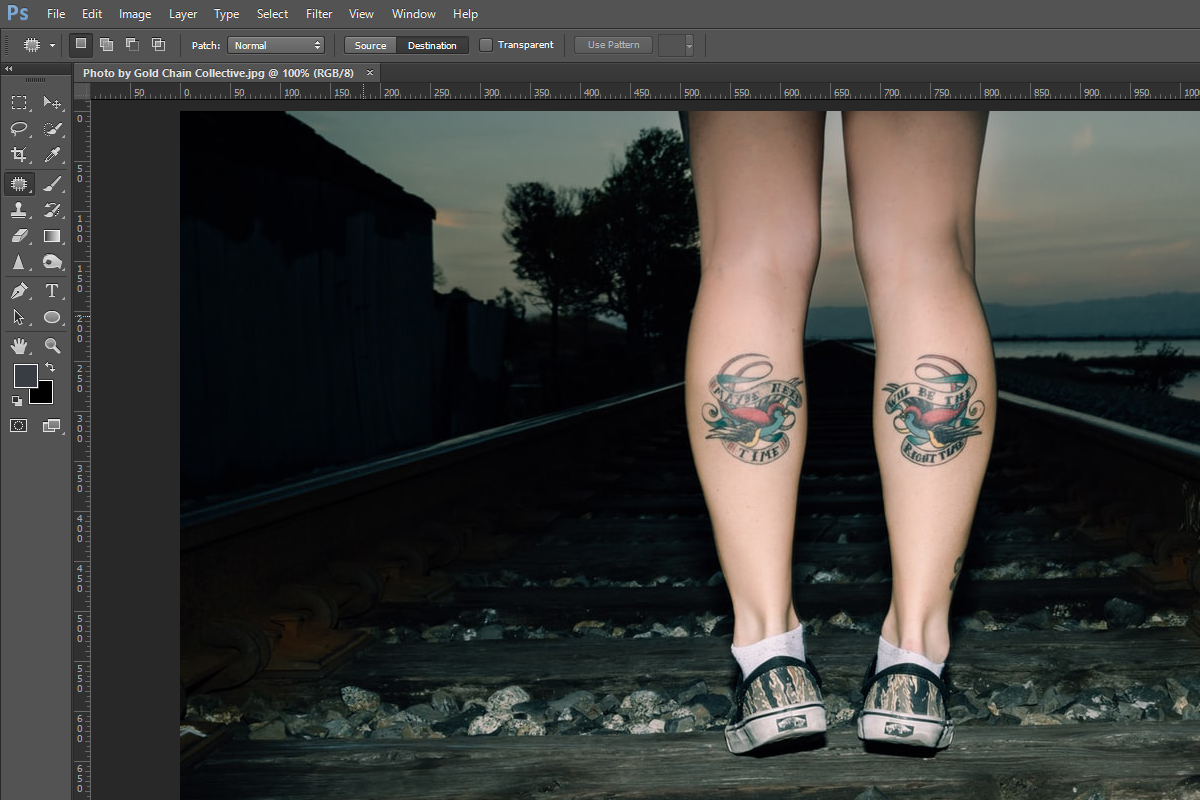 editing with patch tool