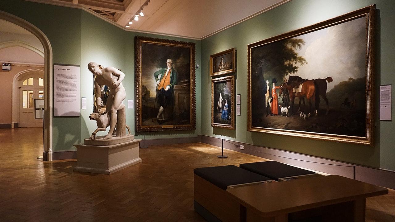 paintings inside building