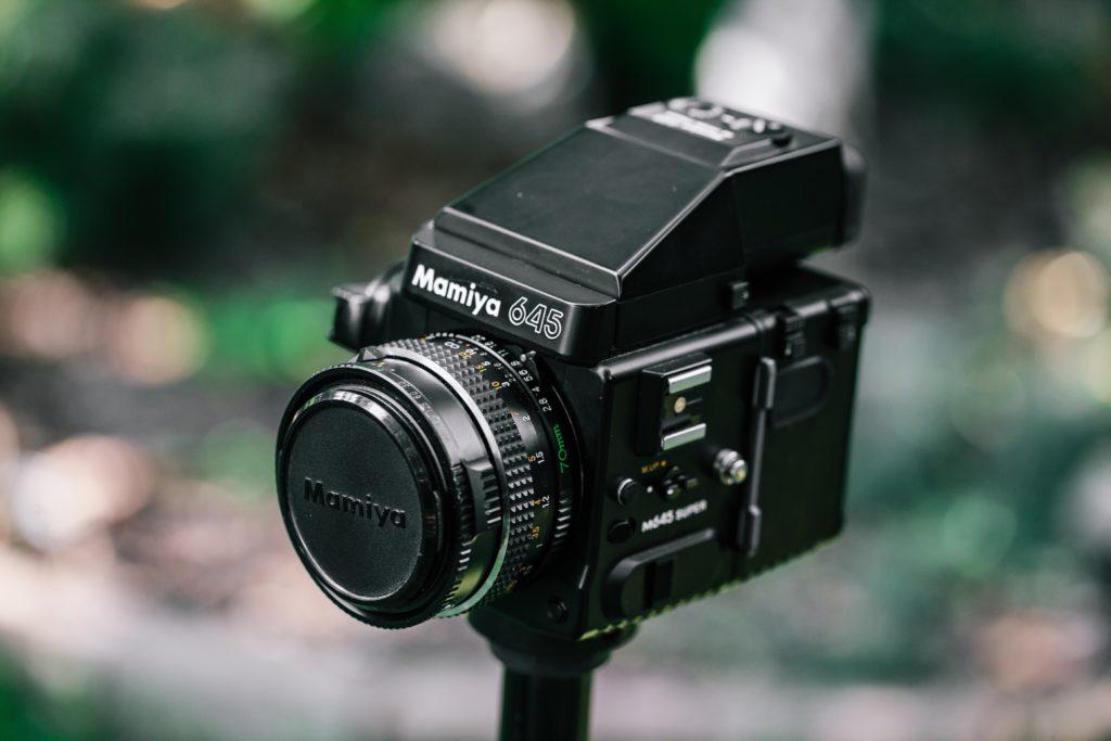 Hasseblad camera on tripod