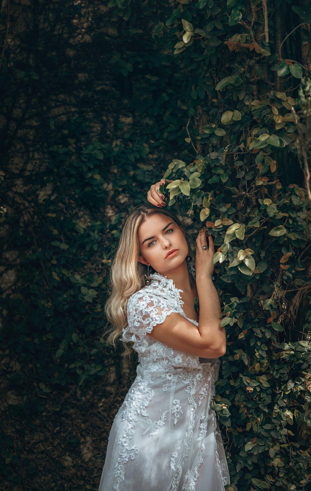 Girls in bush