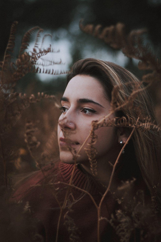 Nose ring girl in bush