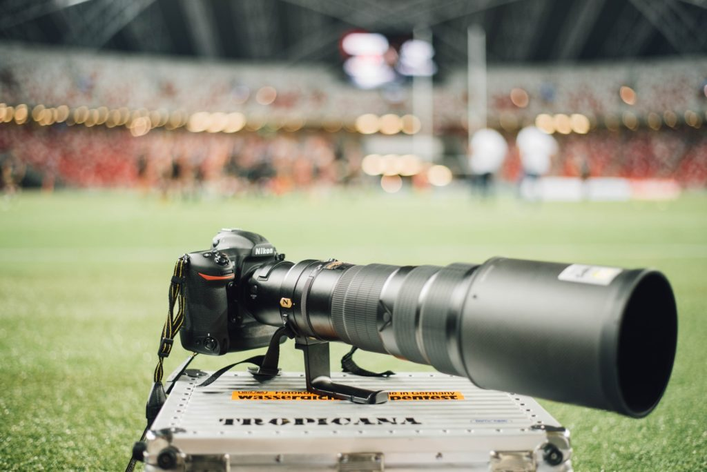 Sports photography Nikon with telephoto lens