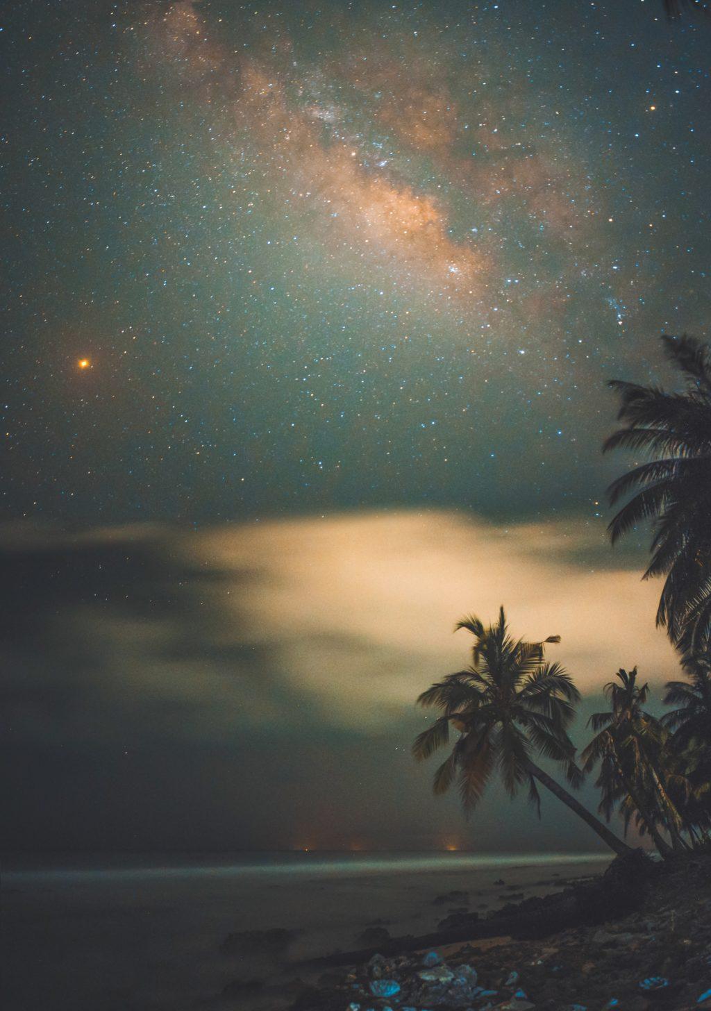 night sky long exposure