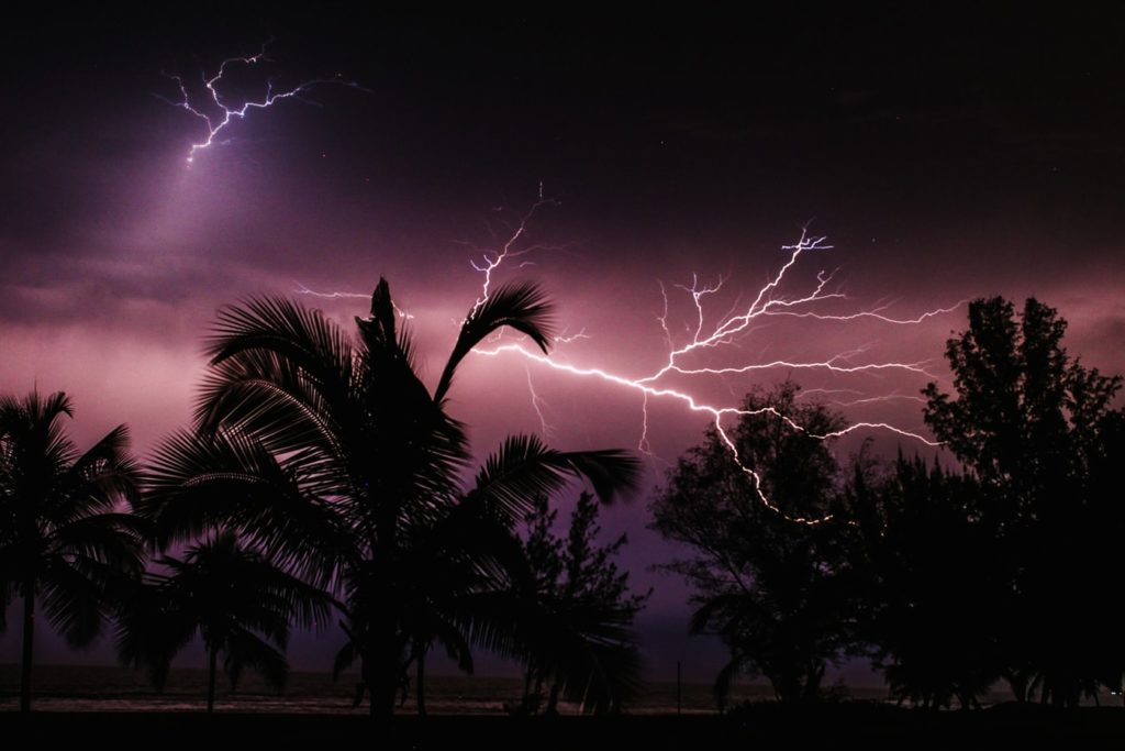 tropical storm lightning