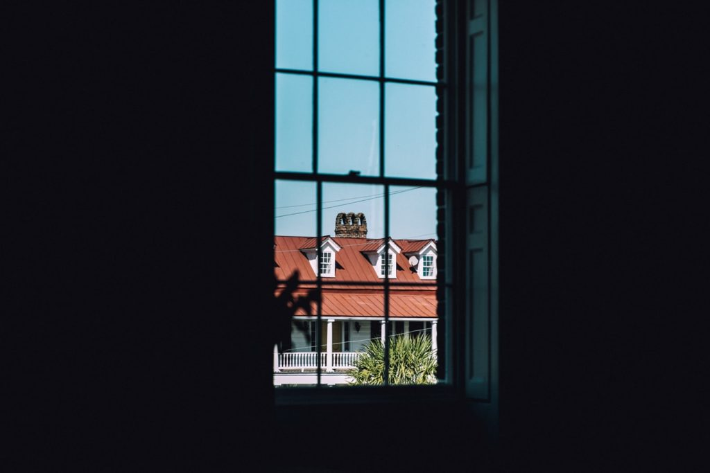 through the window indoor photography