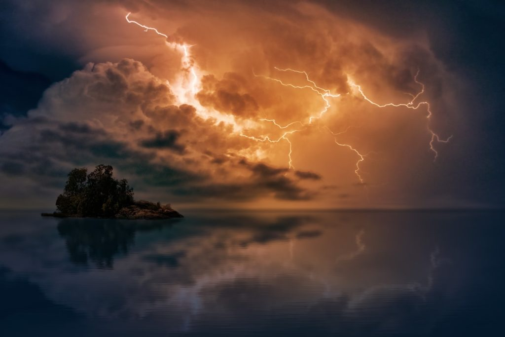 lightning reflection