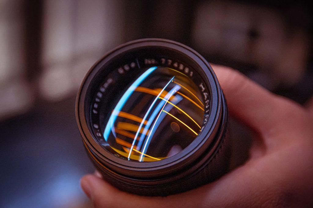 shine light through the lens