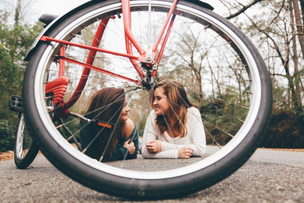 friends bicycle fun photo