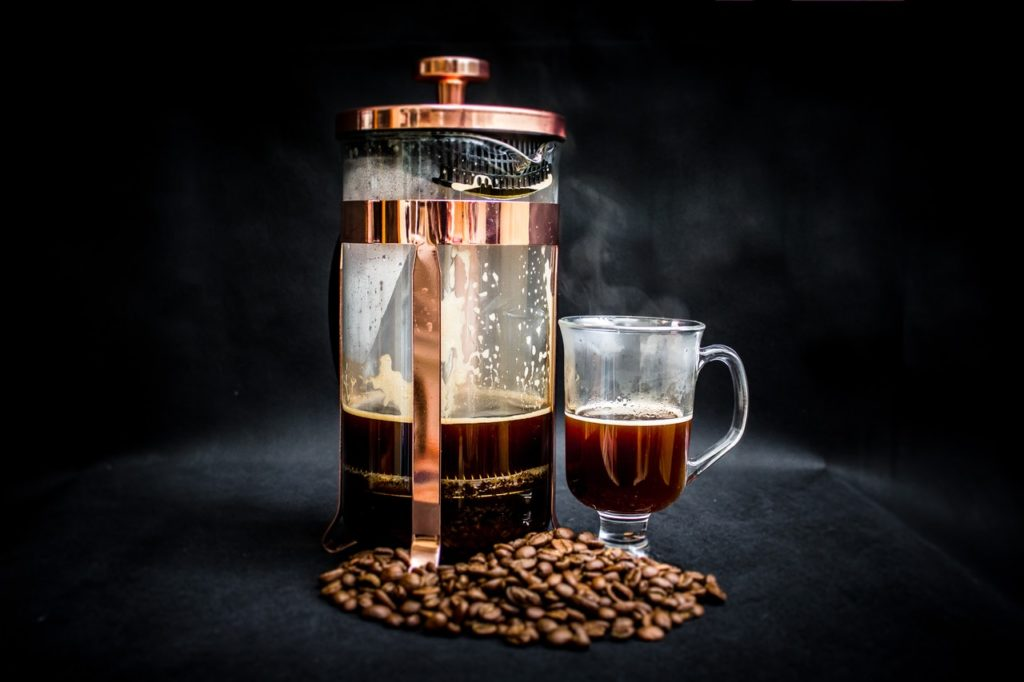 photo of coffee warmer pump jar filled with coffee