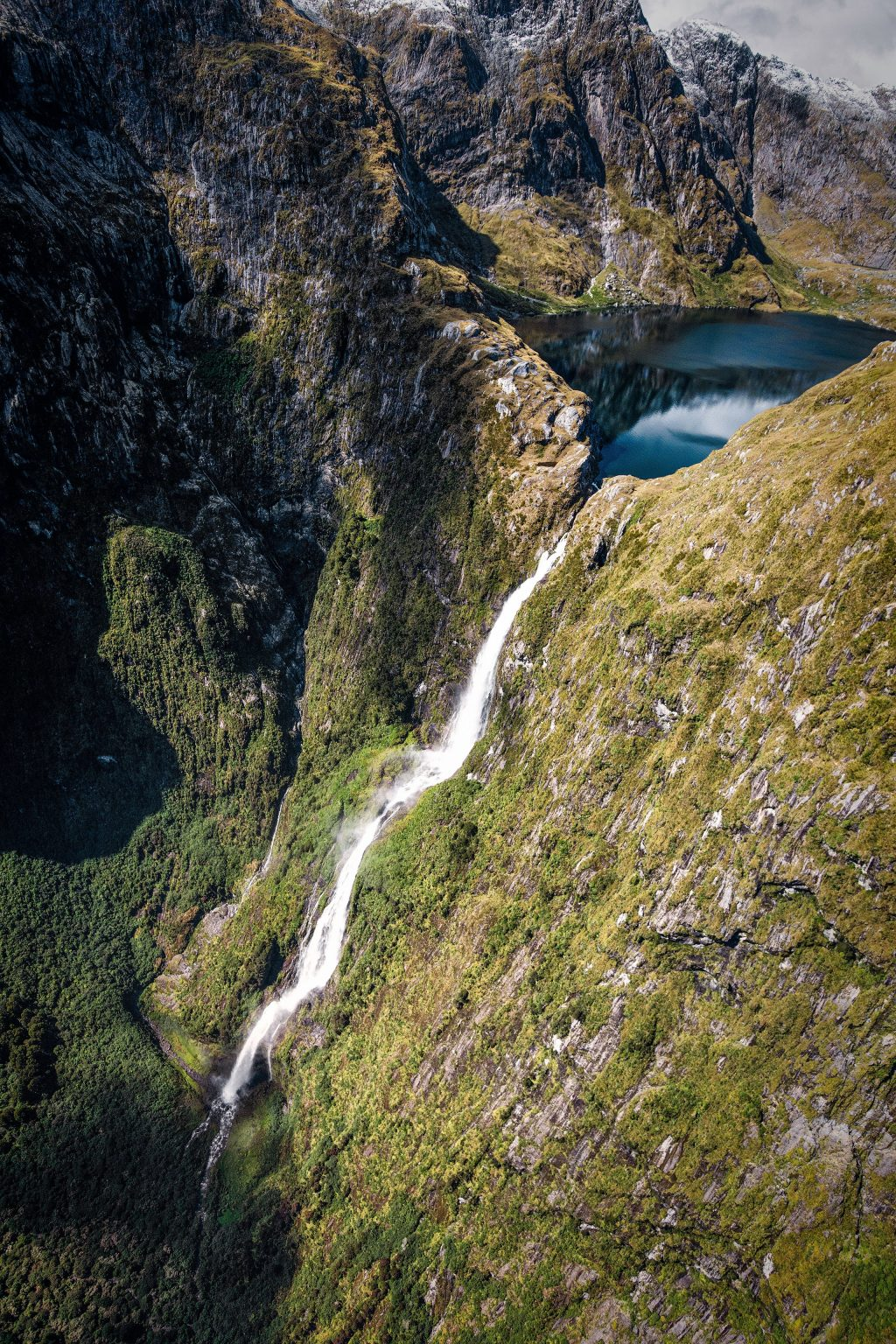 Waterfall from Lake NZ