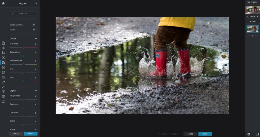 screenshot of pixlr x