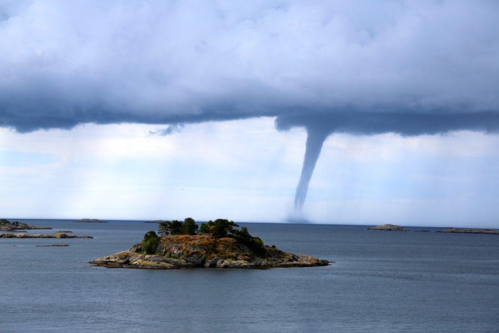 island near tornado