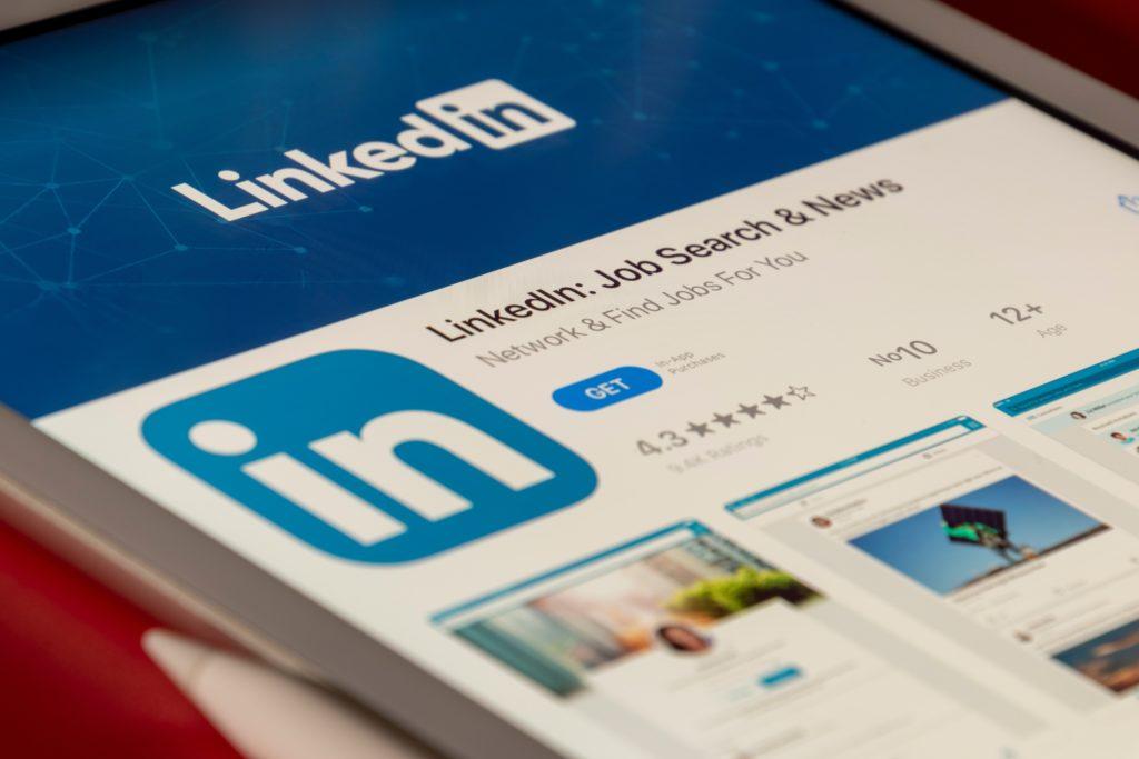 Linkedin app on smart phone