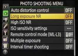 turn-off-noise-reduction on camera