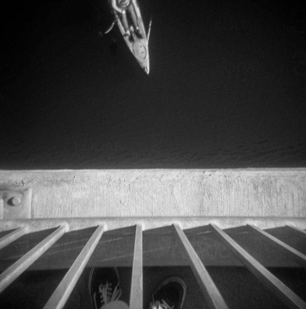 holga black and white photograph