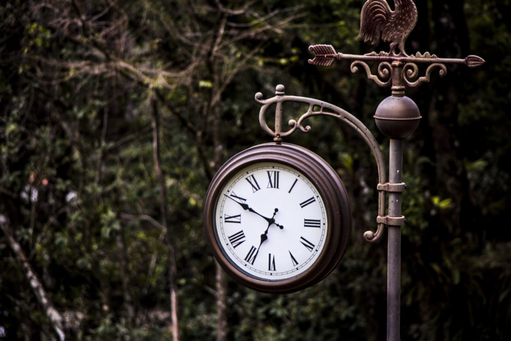 vintage outdoor clock