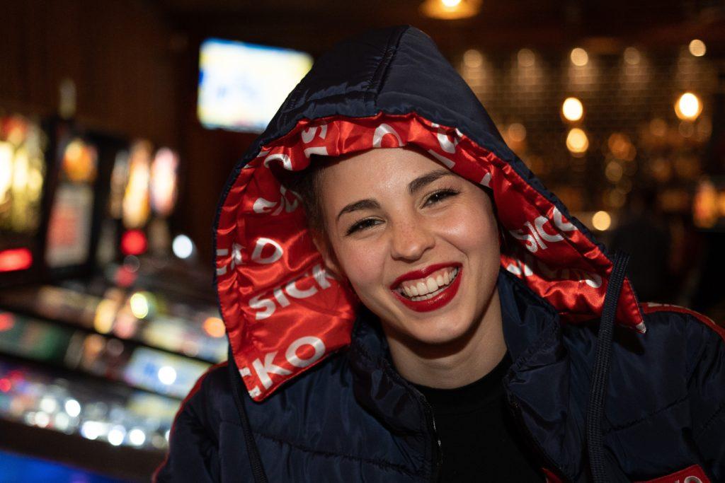 woman wearing black hoodie jacket