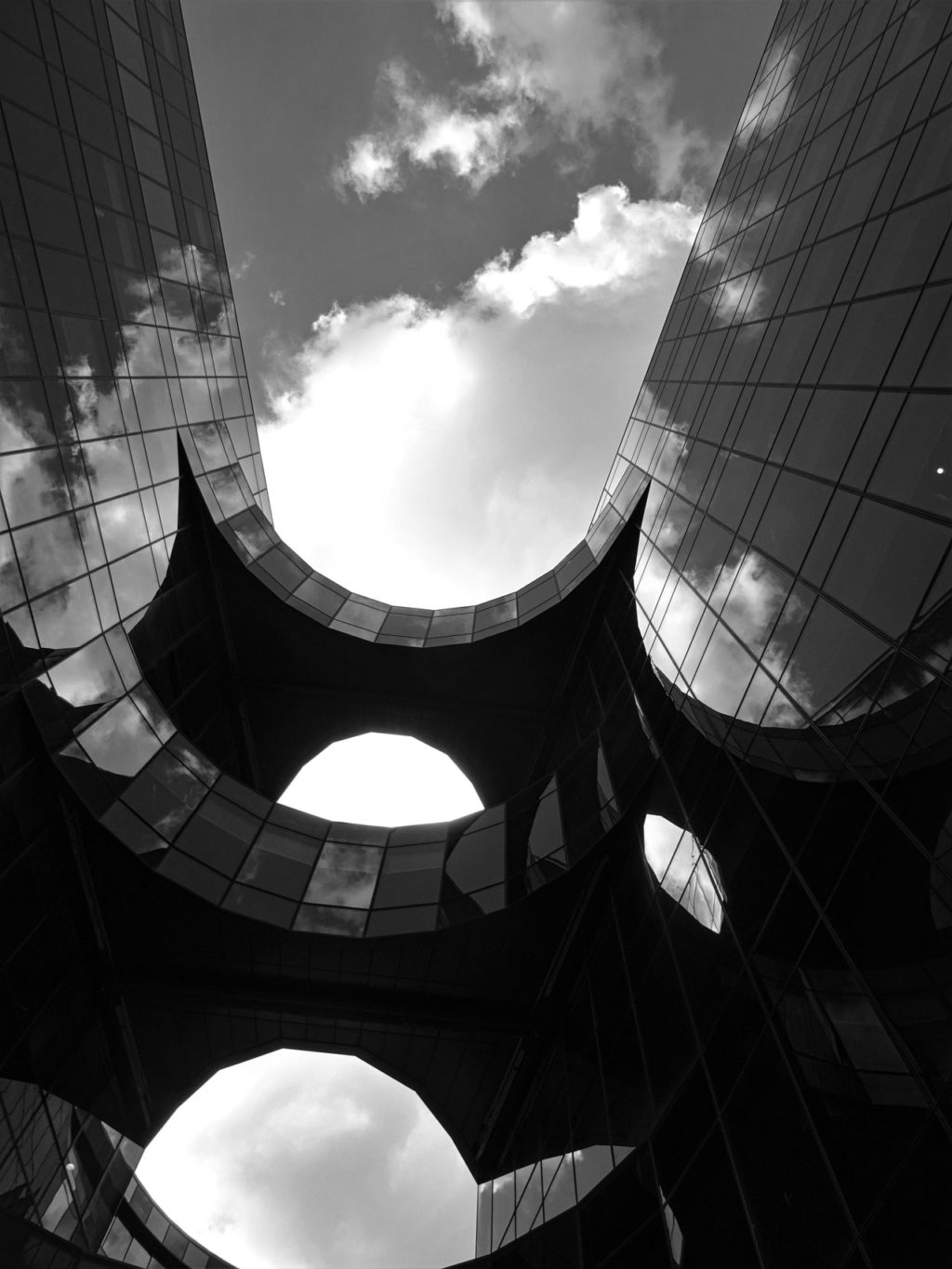 worm s eye view photography of a building